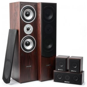 5.0 Home Theatre Systeem - Walnoot