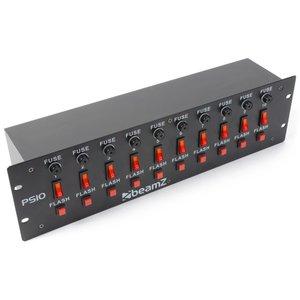 BeamZ PS10 Schakelpaneel 10-Kanaals + Flashtoets