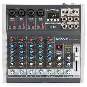Vonyx VMM-K602 6-Kanaals Muziek Mixer met DSP en BT