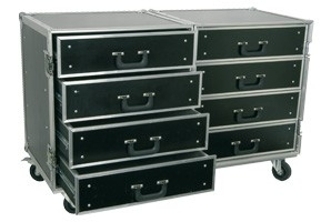 Flightcase Roadie 8 ladenkast PD-FA4